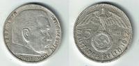 5 Reichsmark 1937 A Drittes Reich Drittes Reich, 5 Reichsmark 1937 A, H... 12,50 EUR  zzgl. 5,00 EUR Versand