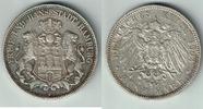 5 Mark 1903 J Hamburg Kaiserreich, Hamburg, 5 Mark 1903 J, Stadtwappen,... 35,00 EUR  zzgl. 5,00 EUR Versand