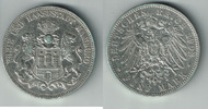 5 Mark 1902 J Hamburg Kaiserreich, Hamburg, 5 Mark 1902 J, Stadtwappen,... 34,00 EUR  zzgl. 5,00 EUR Versand