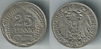 25 Pfennig 1910 F Deutsches Kaiserreich Kaiserreich, Kursmünze 25 Pfenn... 7,00 EUR  zzgl. 5,00 EUR Versand