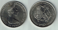 25 Pence 1981 Ascension Ascension, Gedenkmünze 'Hochzeit von Charles + ... 5,00 EUR  zzgl. 5,00 EUR Versand