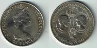 25 Pence 1981 St. Helena St. Helena, Gedenkmünze 'Hochzeit von Charles ... 5,00 EUR  zzgl. 5,00 EUR Versand