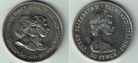 50 Pence 1981 Falkland Inseln Falkland Inseln, Gedenkmünze 'Hochzeit vo... 5,00 EUR  zzgl. 5,00 EUR Versand