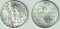 5 Franken 1941 Schweiz Schweiz, Silbergedenkmünze 1941 '650 Jahre Konfö... 29,00 EUR  zzgl. 5,00 EUR Versand