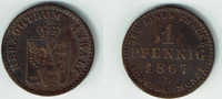 1 Pfennig (Pfenning)  Anhalt - Dessau Anhalt, Herzog Leopold Friedrich,... 12,00 EUR  zzgl. 5,00 EUR Versand