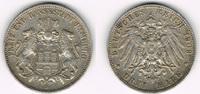 3 Mark 1909 J Hamburg Kaiserreich: Hamburg 3 Mark 1909 J, Stadtwappen, ... 18,00 EUR  zzgl. 5,00 EUR Versand