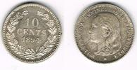 10 Cent 1894 Niederlande Niederlade 1894, 10 Cent, Wilhelmina, Erhaltun... 149,00 EUR  zzgl. 5,00 EUR Versand