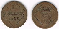 1 Heller 1825 Bayern Bayern, Maximilian I. Joseph, Kursmünze 1 Heller 1... 8,00 EUR  zzgl. 5,00 EUR Versand