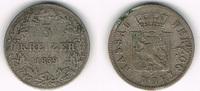 3 Kreuzer 1839 Nassau Nassau, Herzog Adolph II., Kursmünze 3 Kreuzer, E... 49,00 EUR  zzgl. 5,00 EUR Versand