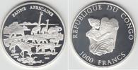 1000 Francs 2002 Republik Kongo Kongo 2002, 1000 Francs, Afrikan. Fauna... 25,00 EUR  zzgl. 5,00 EUR Versand