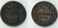 1 Kreuzer 1871 Bayern Bayern, König Ludwig II., Kursmünze 1 Kreuzer, si... 4,00 EUR  zzgl. 5,00 EUR Versand