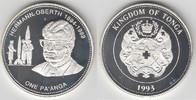 1 Paanga (Pa'anga) 1993 Tonga Tonga, Silbermünze 'Raumfahrt - Hermann O... 29,00 EUR  zzgl. 5,00 EUR Versand