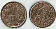 1 Cent 1941 Niederlande Niederlade 1941, 1 Cent, Wilhelmina I., Erhaltu... 3,00 EUR  zzgl. 5,00 EUR Versand
