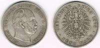 5 Mark 1876 A Preußen Preußen 5 Mark 1876 A, Wilhelm I., Erhaltung sieh... 25,00 EUR  zzgl. 5,00 EUR Versand