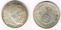 5 Reichsmark 1939 D Drittes Reich Drittes Reich, 5 Reichsmark 1939 D, H... 13,50 EUR  zzgl. 5,00 EUR Versand