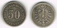 50 Pfennig 1876 B Deutsches Kaiserreich Kaiserreich, Kursmünze 50 Pfenn... 8,50 EUR  zzgl. 5,00 EUR Versand