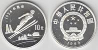 10 Yuan 1992 China China, Silbermünze Olympische Winterspiele, Skisprin... 24,00 EUR  zzgl. 5,00 EUR Versand