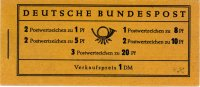 Bund 1 Markenheftchen Bund, MH-Nr. 4 y II , <i>Heuss</i>. RLV I bei H-Bl. 8y II