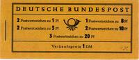 1 Markenheftchen 1960 Bund Bund, MH-Nr. 4 y II , Heuss. RLV I bei H-Bl.... 50,00 EUR  zzgl. 5,00 EUR Versand