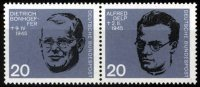 BRD 2 x 20 Pfennig BRD, Mi.-Nr. 433-34, <i>20. Jahrestag des Attentats auf A. Hitler</i>
