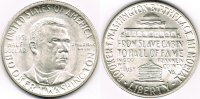 USA - Amerika 1/2 Dollar Halbdollar-Silbergedenkmünze 1951, Booker T. Washington