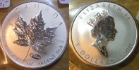 Kanada 1 Dollar Kanada 2000, 1 Unze 0,999 Silber, <i>Maple Leaf - Privy mark Expo 2000 Hannover</i>