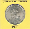 Gibraltar 1 Crown Gibraltar 1 Crown 1970, Stempelglanz.