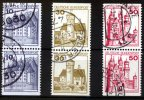 BRD 6 Werte, 10 bis 50 Pfennig 1977 gestem...
