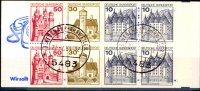 BRD 8 Werte, 10 bis 50 Pfennig BRD, Mi-Nr. MH 21 a I <i>Burgen und Schlsser</i> 