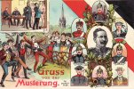 Deutsches Reich  Ansichtskarte/Postkarte/Gruss von der Musterung./Gemessen.