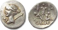 ROMAN REPUBLIC AR denarius 46-45 B.C. EF+/FDC C. Julius Caesar, military... 1120,00 EUR  zzgl. Versand