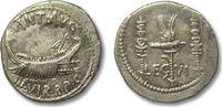 ROMAN REPUBLIC AR denarius 32-31 B.C. VF+ light toning, two scratches on... 449,00 EUR  zzgl. Versand