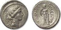 ROMAN REPUBLIC AR denarius 49 B.C. VF+/EF- beatifull toning Mn. Acilius ... 238,00 EUR  zzgl. Versand