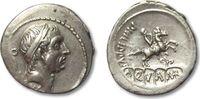 ROMAN REPUBLIC AR denarius 56 B.C. VF+/EF L. Marcius Philippus, Rome 256,00 EUR  zzgl. Versand