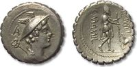 ROMAN REPUBLIC AR denarius 82 B.C. VF+ beautiful light toning, sharp str... 318,00 EUR  zzgl. Versand