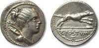 ROMAN REPUBLIC AR denarius 74 B.C. VF+ great coin C. Postumius, Rome 276,00 EUR  zzgl. Versand