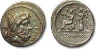 AR Denarius 59 B.C. ROMAN REPUBLIC M. Nonius Sufenas, Rome VF+ gold irr... 328,00 EUR  zzgl. 11,50 EUR Versand