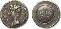 AR denarius 19-18 B.C. ROMAN EMPIRE Octavian as Augustus, Spain - Emeri... 585,00 EUR  zzgl. 11,50 EUR Versand