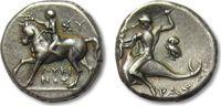 AR didrachm 275-240 B.C. ANCIENT GREECE Calabria, Tarentum -- strong hi... 385,00 EUR  zzgl. 11,50 EUR Versand