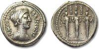 AR denarius 43 B.C. ROMAN REPUBLIC P. Accoleius Lariscolus, Rome VF+ ni... 385,02 EUR  zzgl. 11,50 EUR Versand