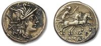 ROMAN REPUBLIC Denarius Pinarius Natta, Rome