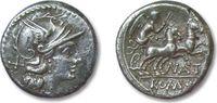 ROMAN REPUBLIC AR Denarius Pinarius Natta, Rome