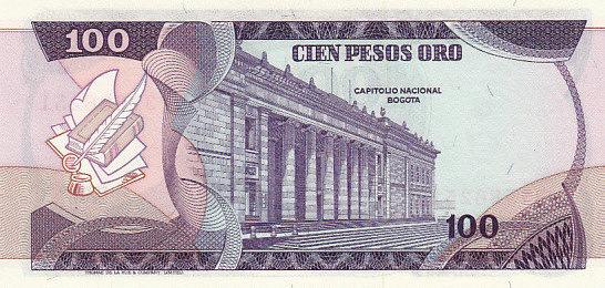 100 Pesos 1977 Colombia COLOMBIA P.418a - 1977 UNC unz