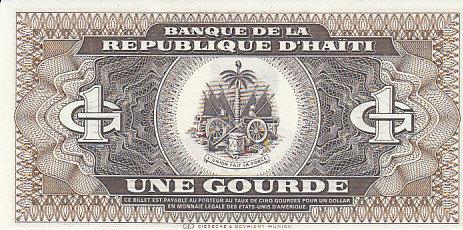 1987 Haiti HAITI P.245a - 1 Gourde 1987 UNC unz