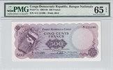 500 Francs 1961 Congo Dem Rep. CONGO DEM. REP. P.7a -  1961 PMG 65 EPQ ... 500,00 EUR kostenloser Versand