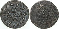 Hungary  1095-1116 EF KLMN, AR Denar/CROSS