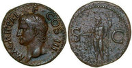 Roman Empire  Died 12 AD. aEF AGRIPPA, Æ-AS, Rome/NEPTUNE 320,00 EUR