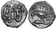 Ancient Greece  400-350 BC MS/EF THRACE - ISTROS, AR Stater/EAGLE & DOLPHIN 390,00 EUR
