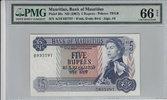 5 Rupees  Mauritius MAURITIUS P.30c -  ND1967 PMG 66 EPQ PMG Graded 66 ... 100,00 EUR  zzgl. 12,00 EUR Versand