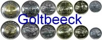 ETHIOPIA    Set of 6 coins 2004/10, 1- 50 Cents, 1 Birr UNC  6,00 EUR